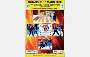 ANNULE - Tournoi des Novices Light Contact