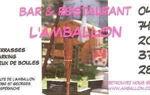 RESTAURANT - BAR L'AMBALLON